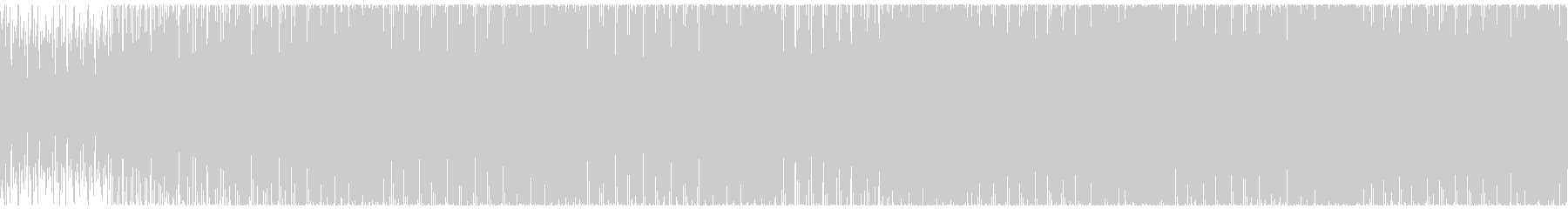 テクノ、無機質、癖になるループ素材の未再生の波形