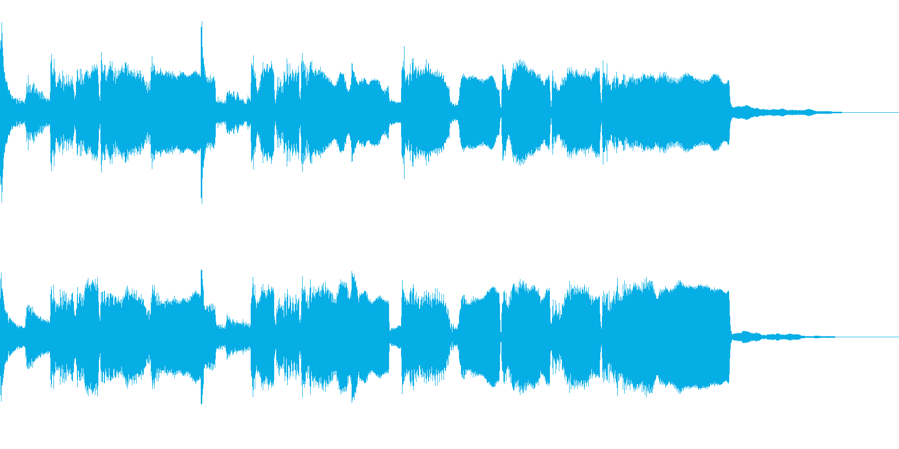 和風ジングル、篠笛、琴、のどかな田舎の再生済みの波形