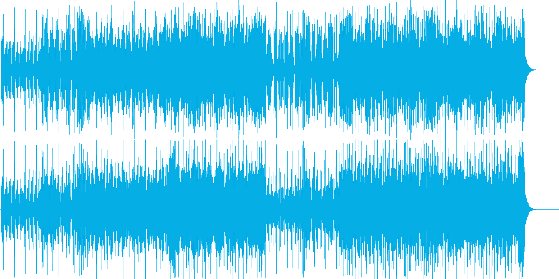 元気 テーマ 軽快 にぎやか 前進 躍動の再生済みの波形