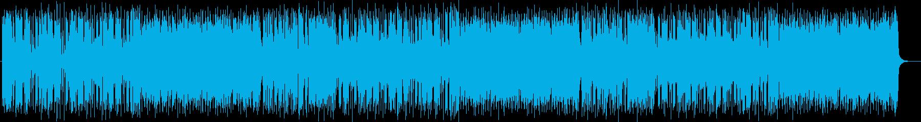 明るくうきうきするテクノポップの再生済みの波形