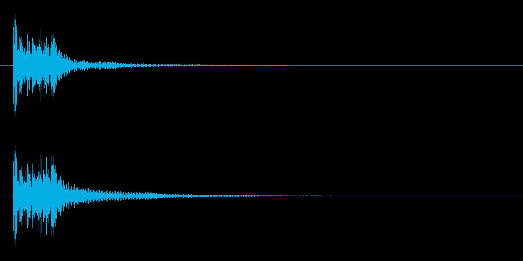 木琴音、不正解時などのSEの再生済みの波形