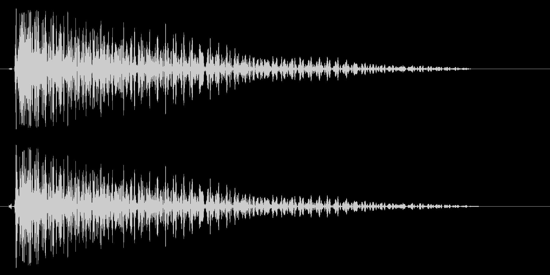 ドゥオワン(少し伸びて沈む打撃音)の未再生の波形