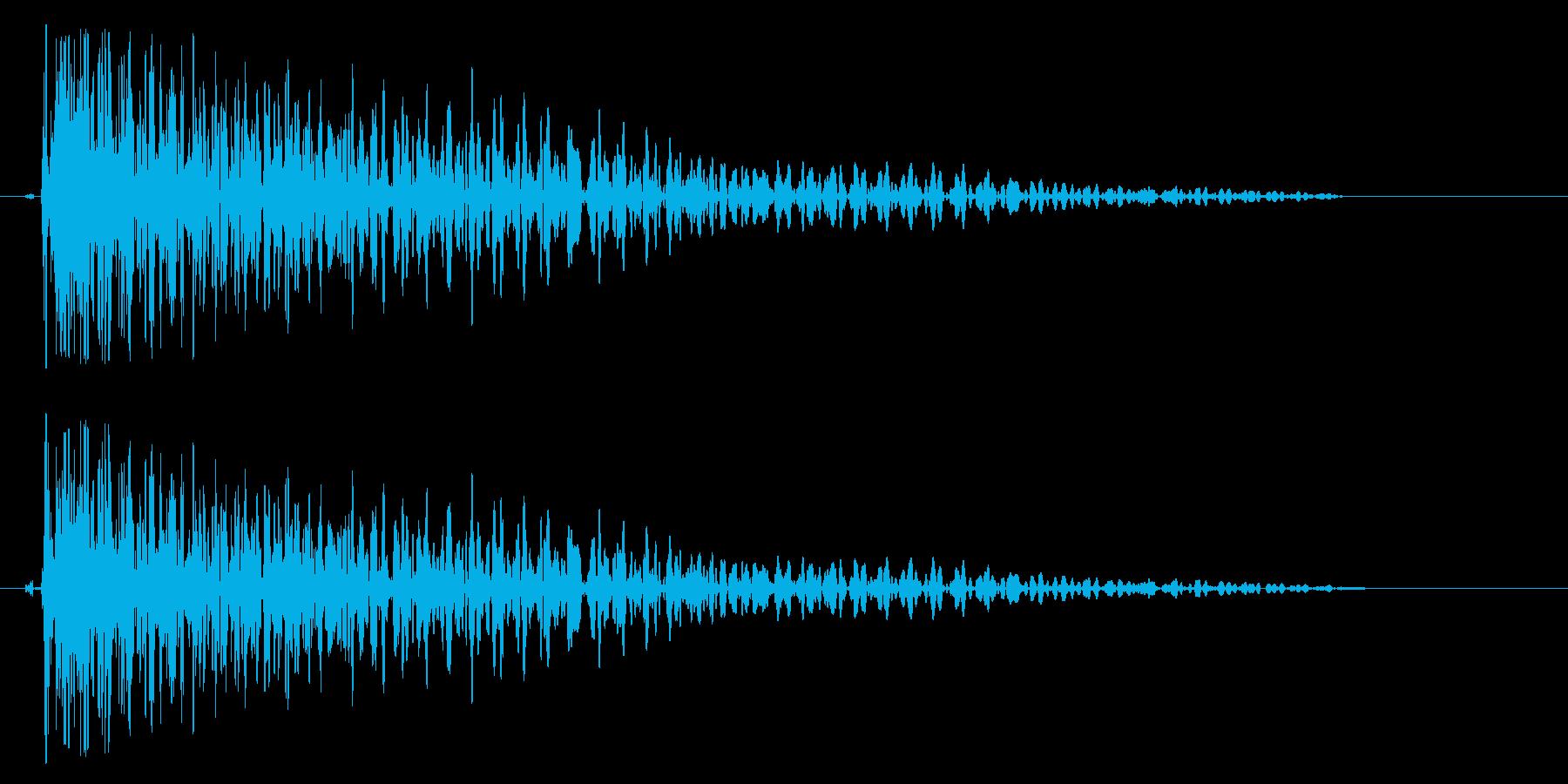 ドゥオワン(少し伸びて沈む打撃音)の再生済みの波形