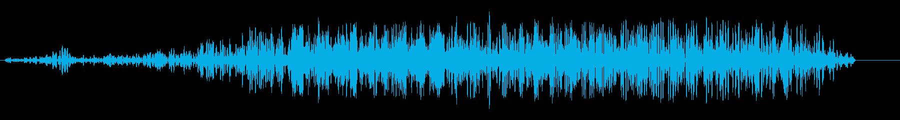 ドラッグレースのスタートのような音の再生済みの波形