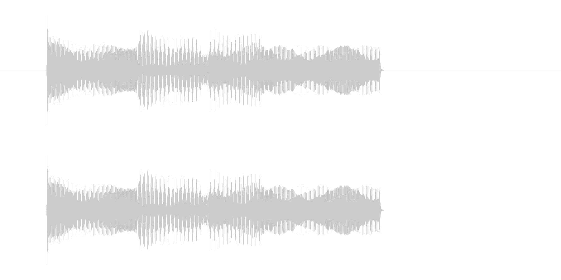 ピコピコ 決定音 スタート音 電子音の未再生の波形