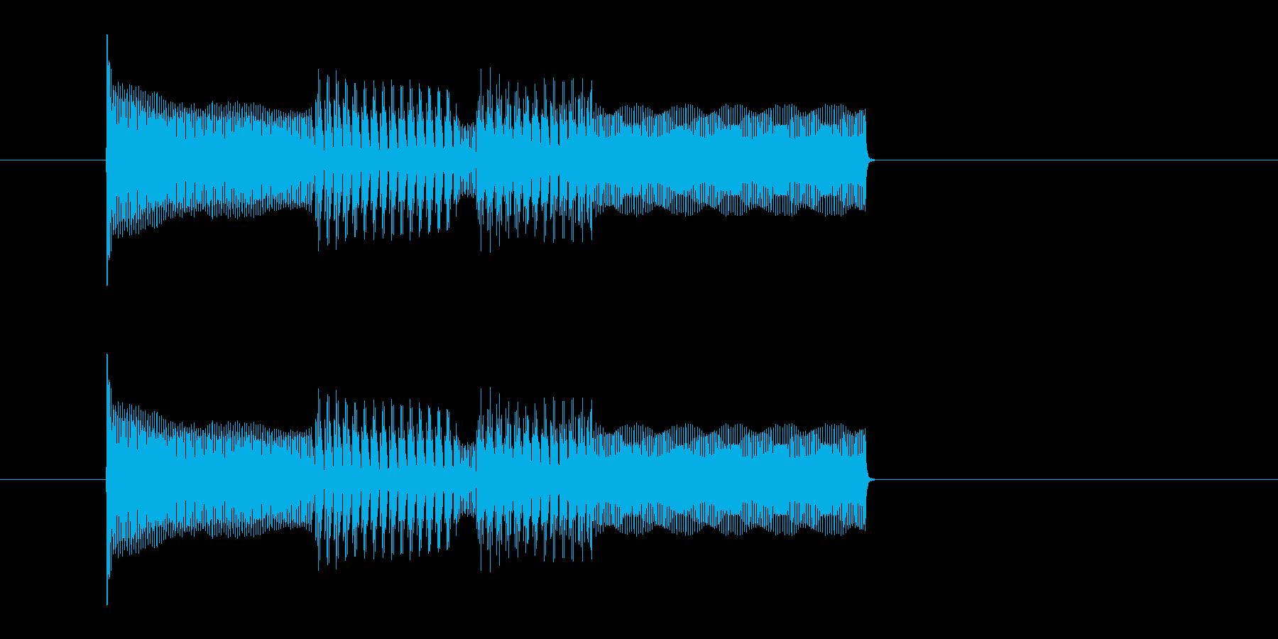 ピコピコ 決定音 スタート音 電子音の再生済みの波形