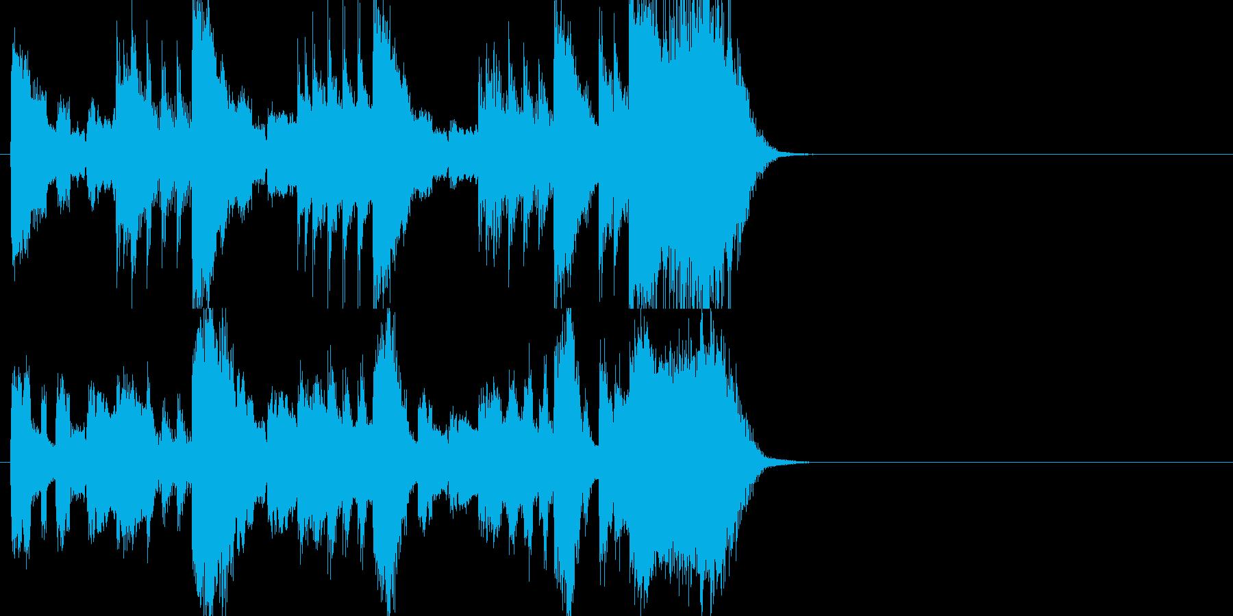 ファンファーレジングルの再生済みの波形