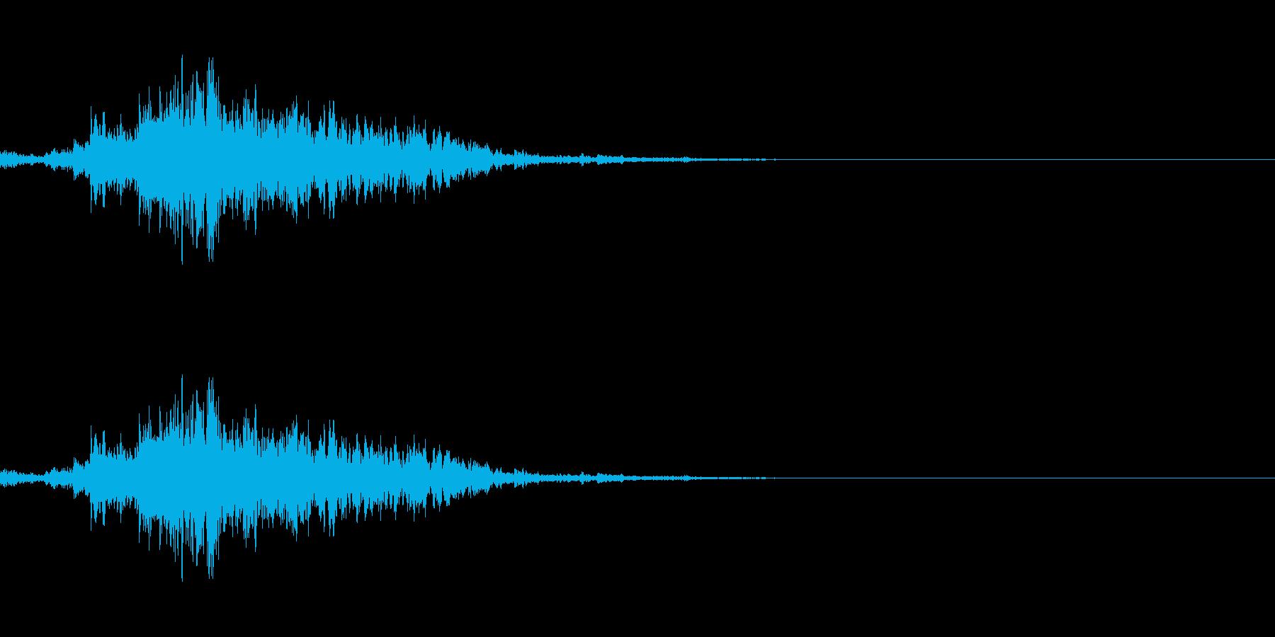 神楽鈴 ワンショットの再生済みの波形
