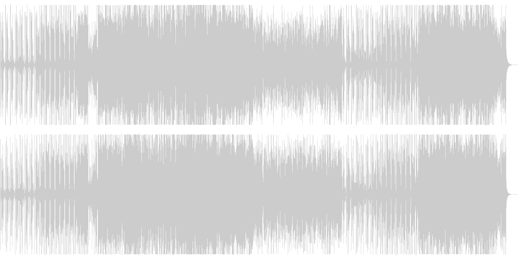軽快でキャッチ―なシンセポップスの未再生の波形