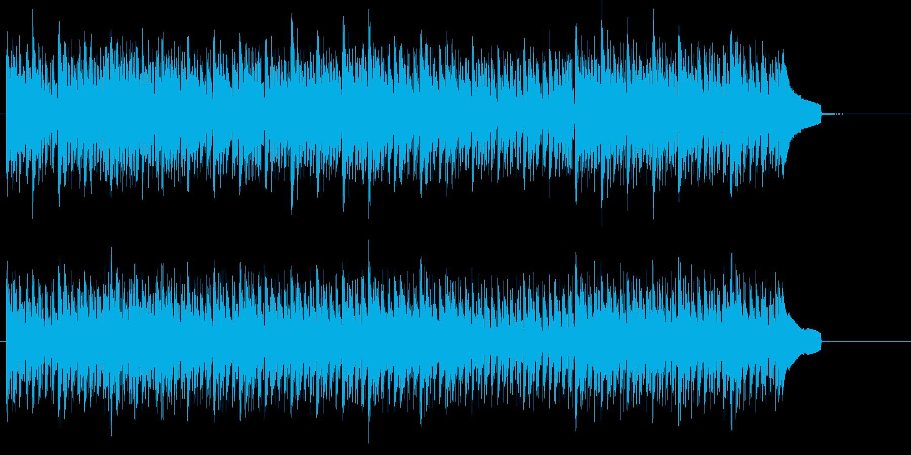クールな緊張感のあるBGMの再生済みの波形