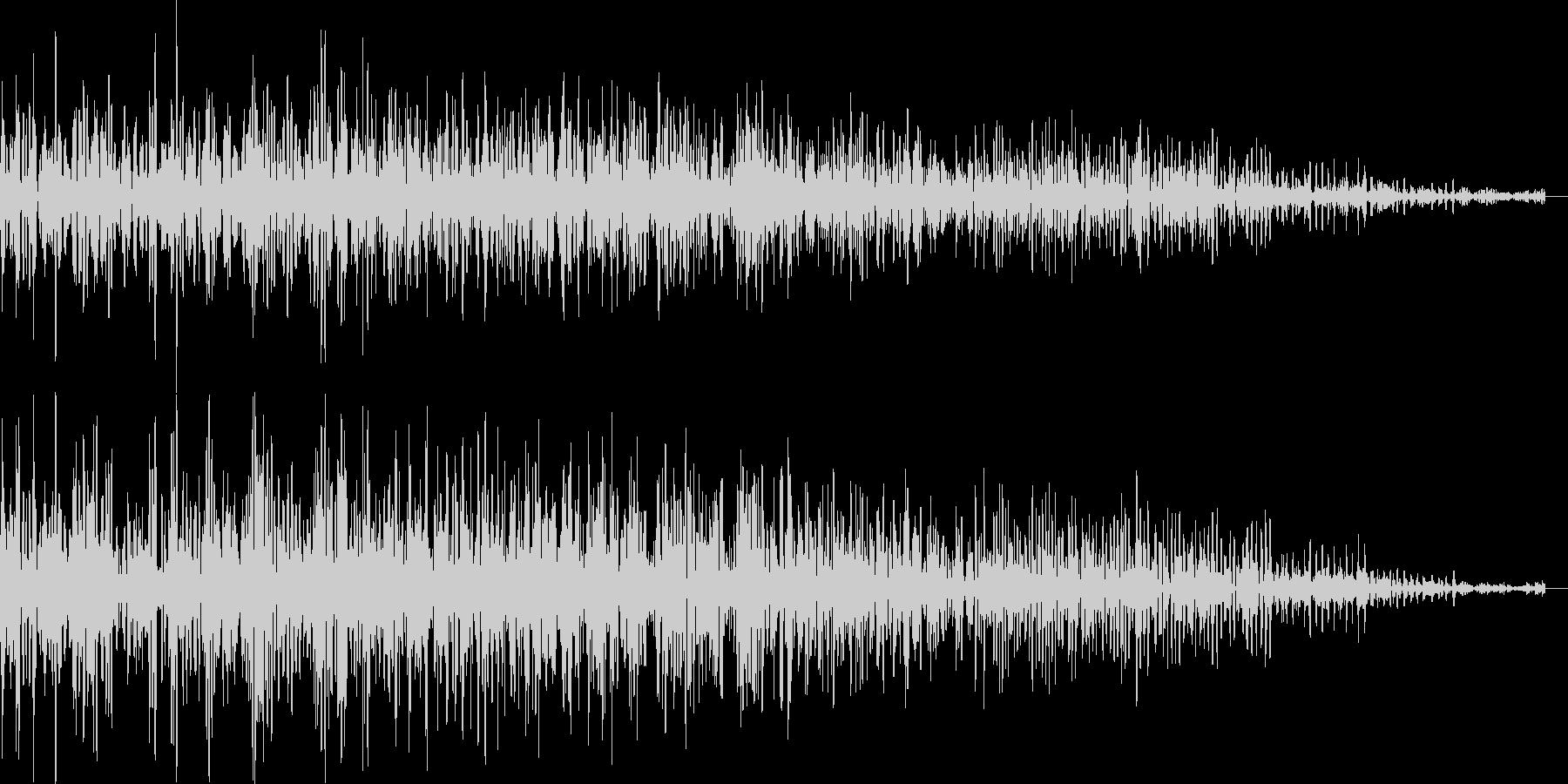 ロボットの動作音(遠くで響く)の未再生の波形