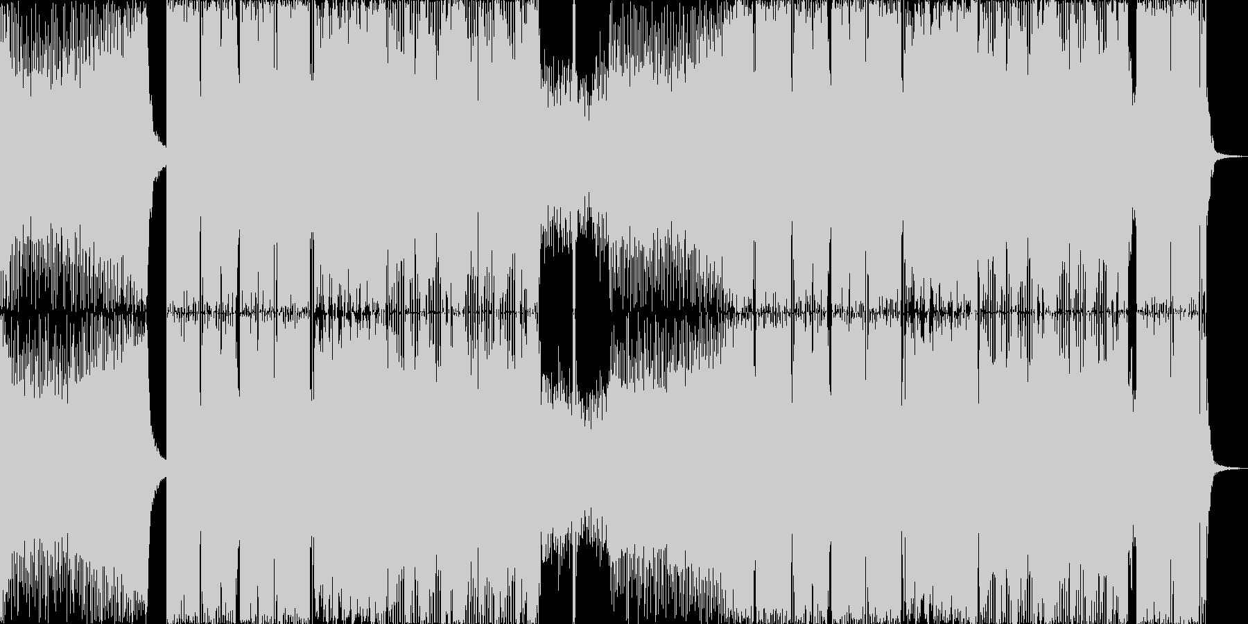 盛り上がるEDMの未再生の波形
