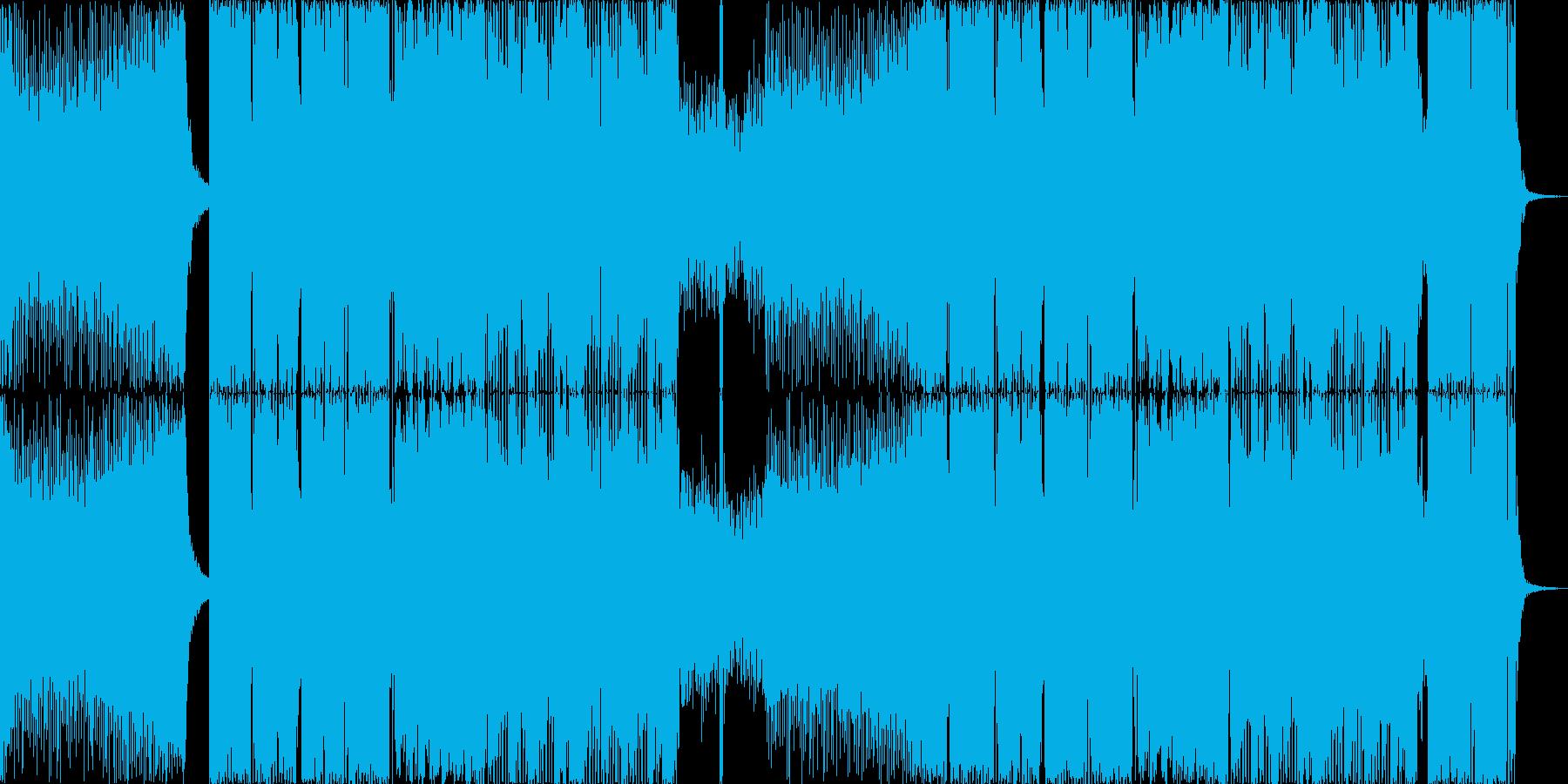 盛り上がるEDMの再生済みの波形