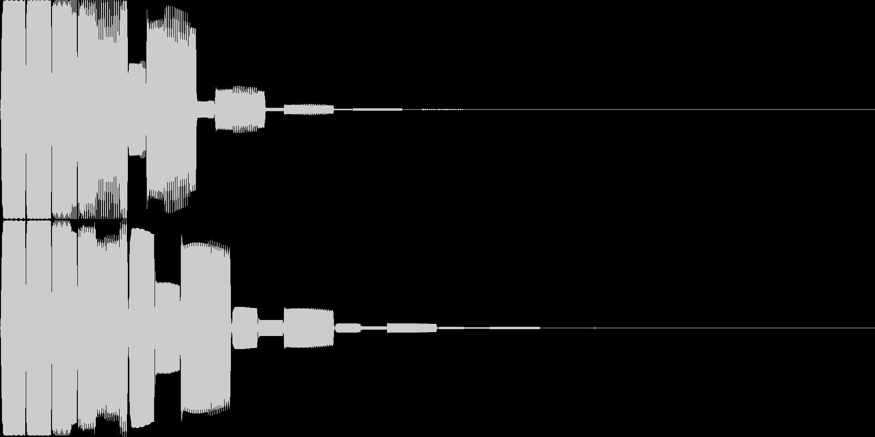 汎用キャンセルボタン - 6の未再生の波形
