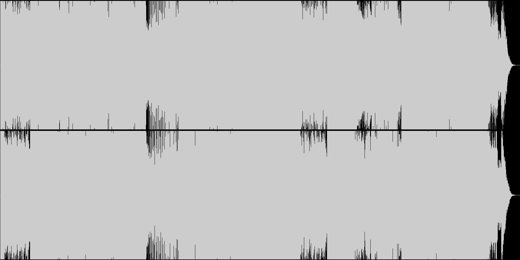 「G線上のアリア」トランス系アレンジの未再生の波形