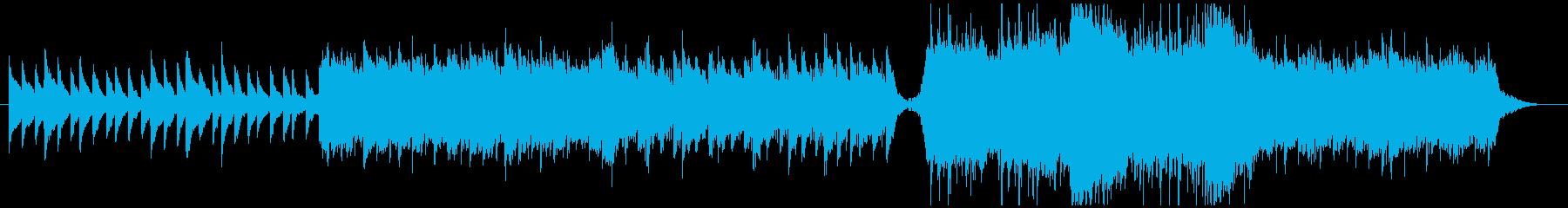 不安になるようなミステリアスサウンドの再生済みの波形