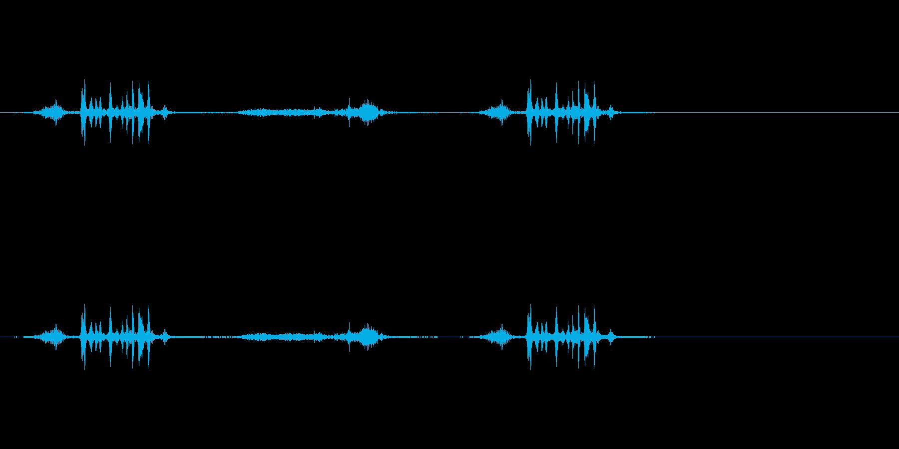ハサミで厚紙を切る音(2)の再生済みの波形