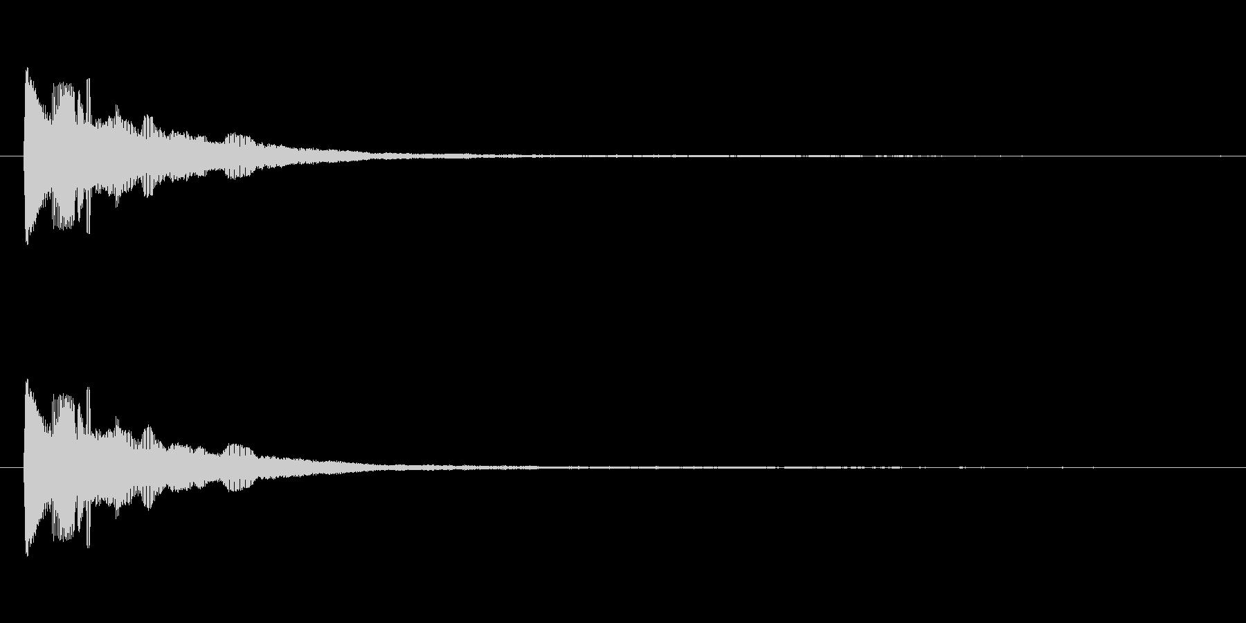 ビローン(笑いを誘う伸びる音)の未再生の波形