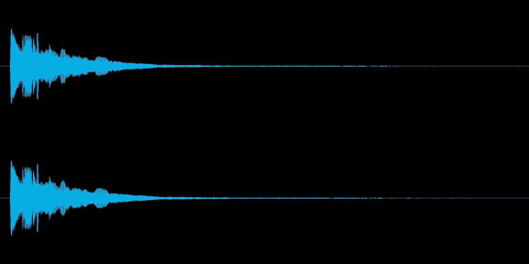 ビローン(笑いを誘う伸びる音)の再生済みの波形