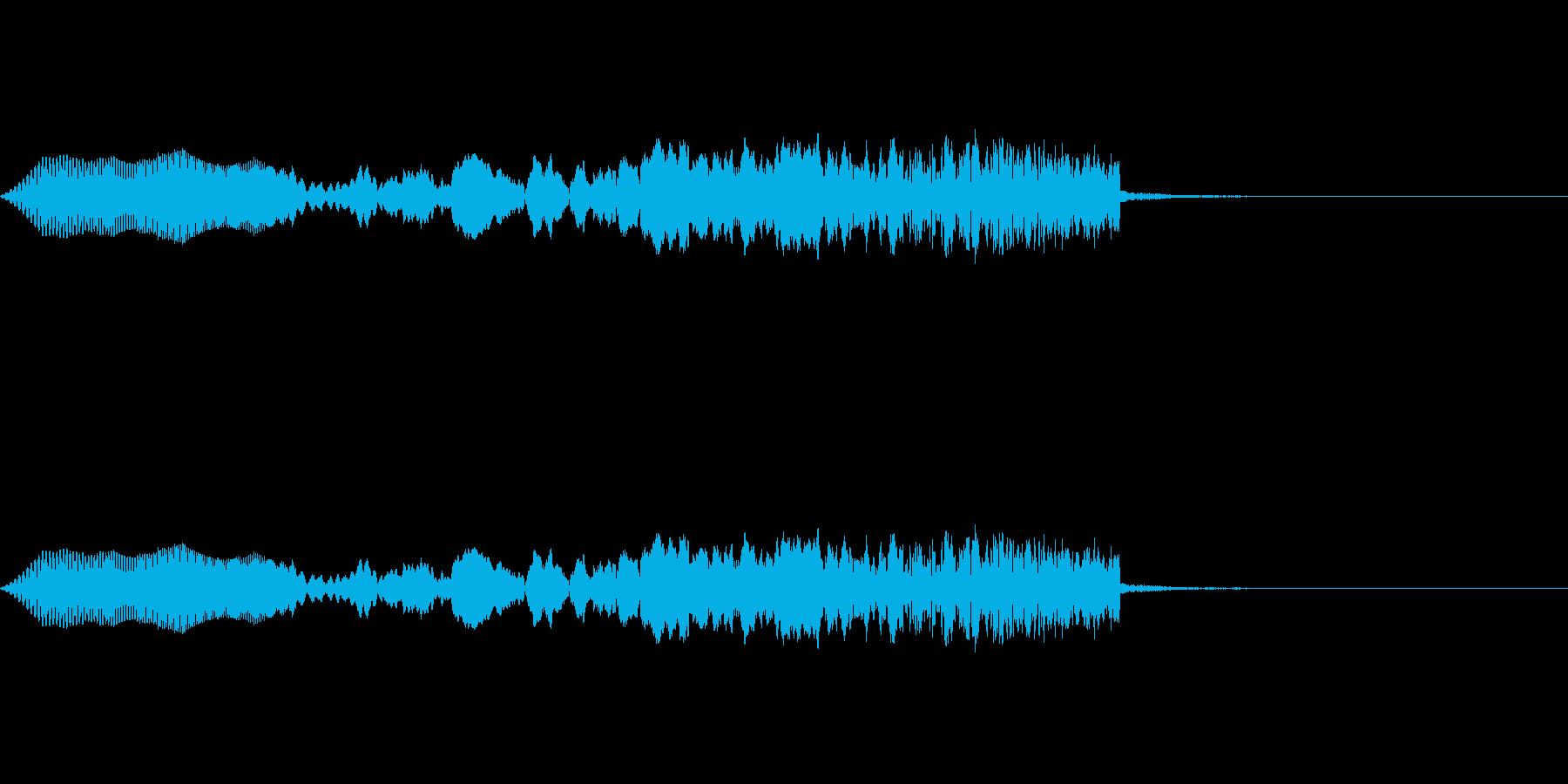 ヒューとsweep Upするの再生済みの波形