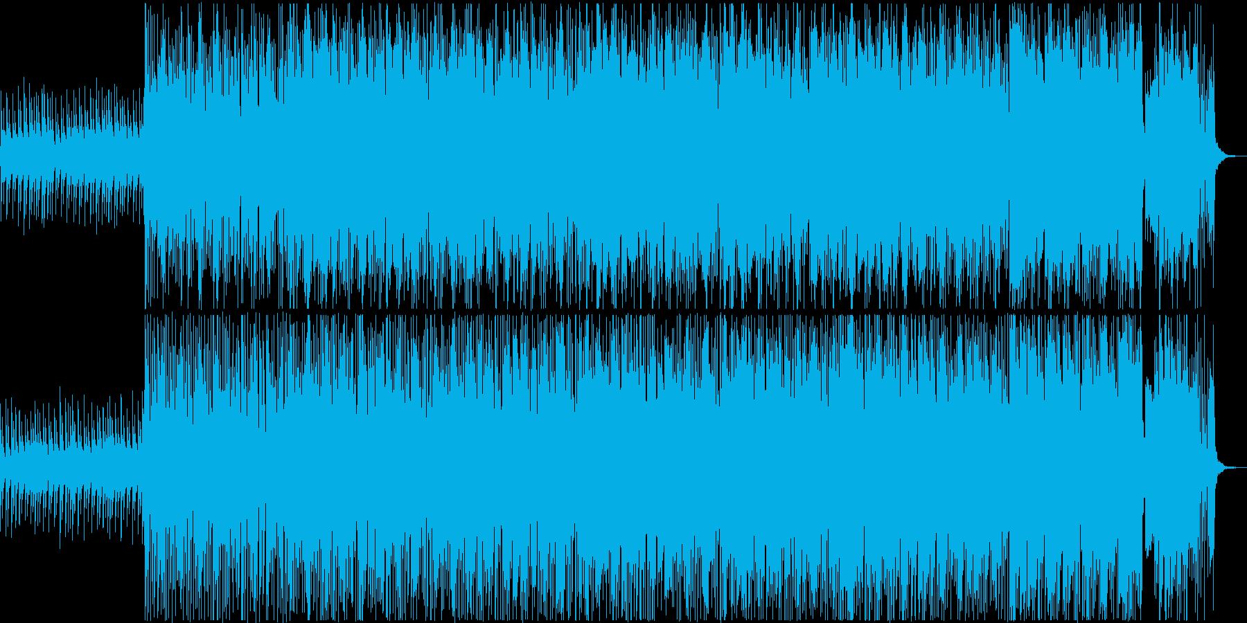 水中をイメージした幻想的な女性コーラス曲の再生済みの波形