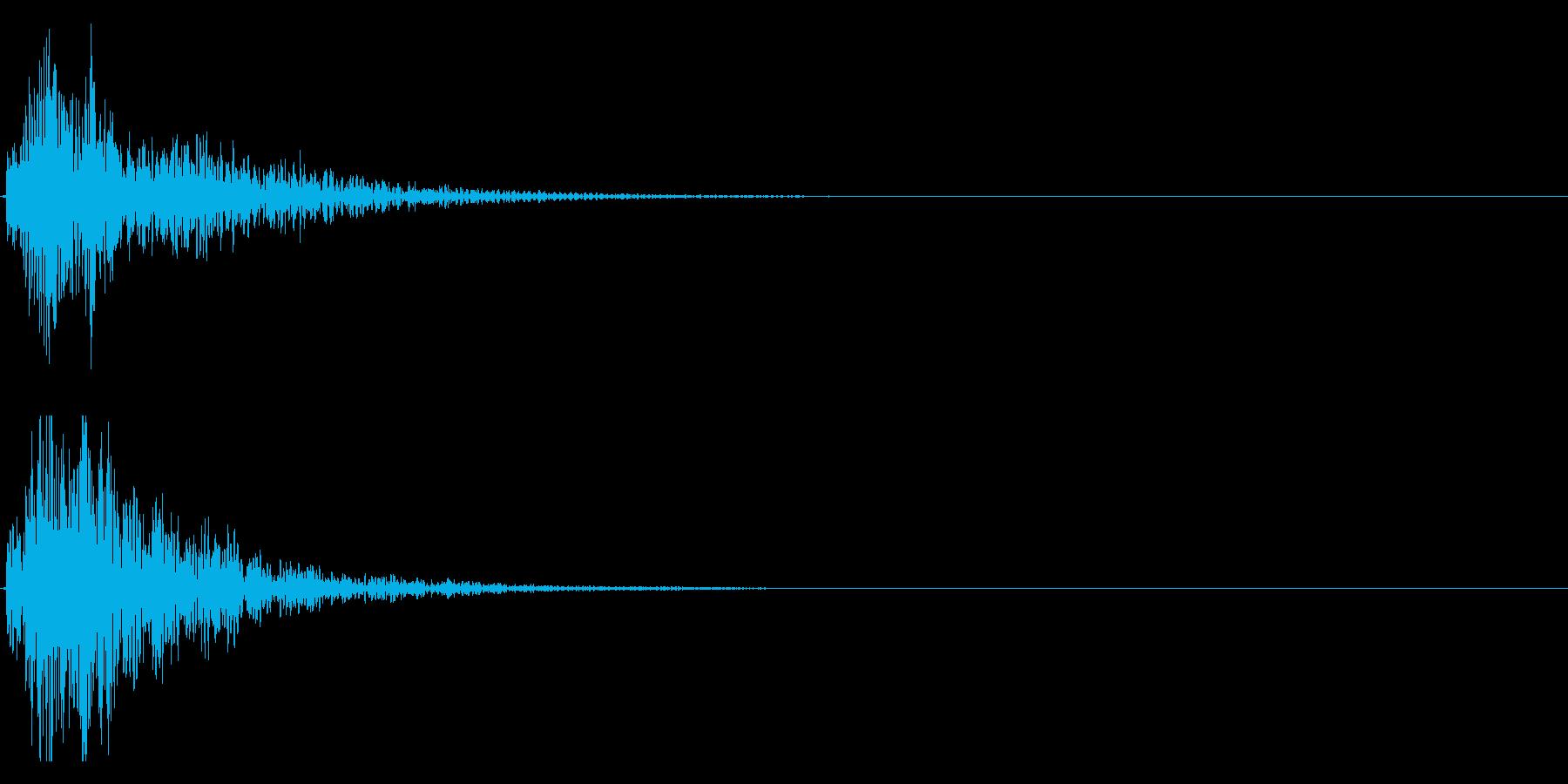 ドドン!(迫力ある和太鼓の効果音)08の再生済みの波形