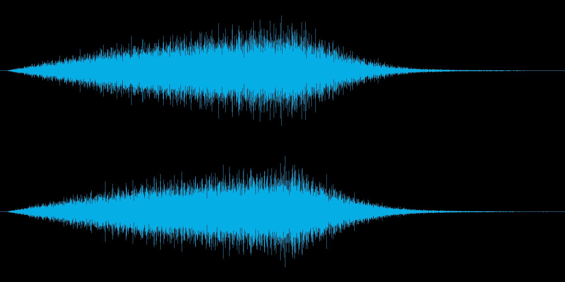 魔界の扉が出現する音(シュオオン、転送)の再生済みの波形