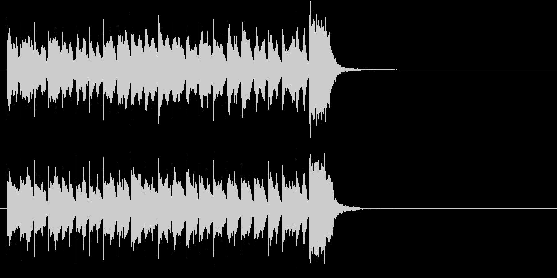 ほのぼのとした軽快なスポットBGMの未再生の波形