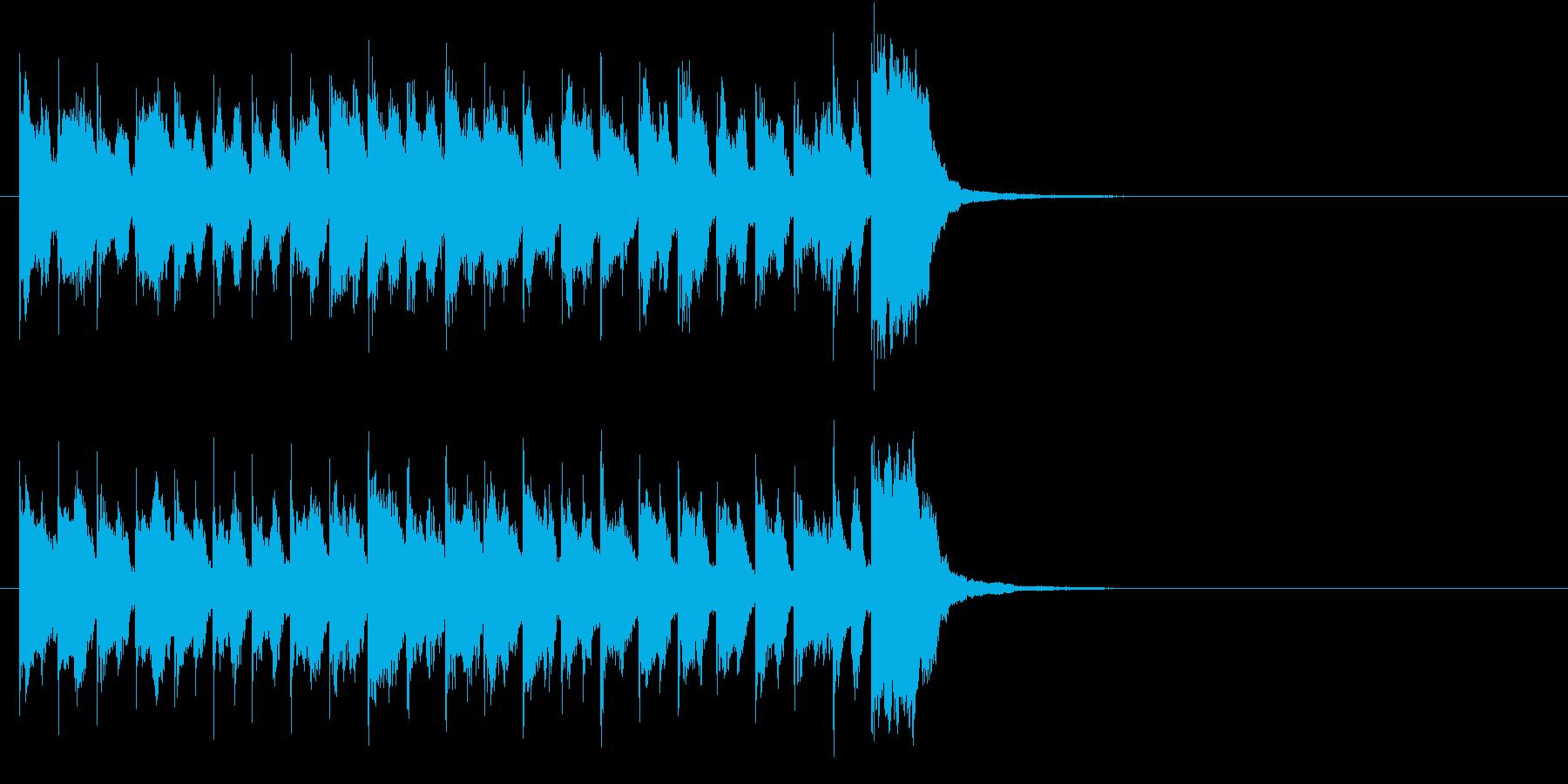 ほのぼのとした軽快なスポットBGMの再生済みの波形