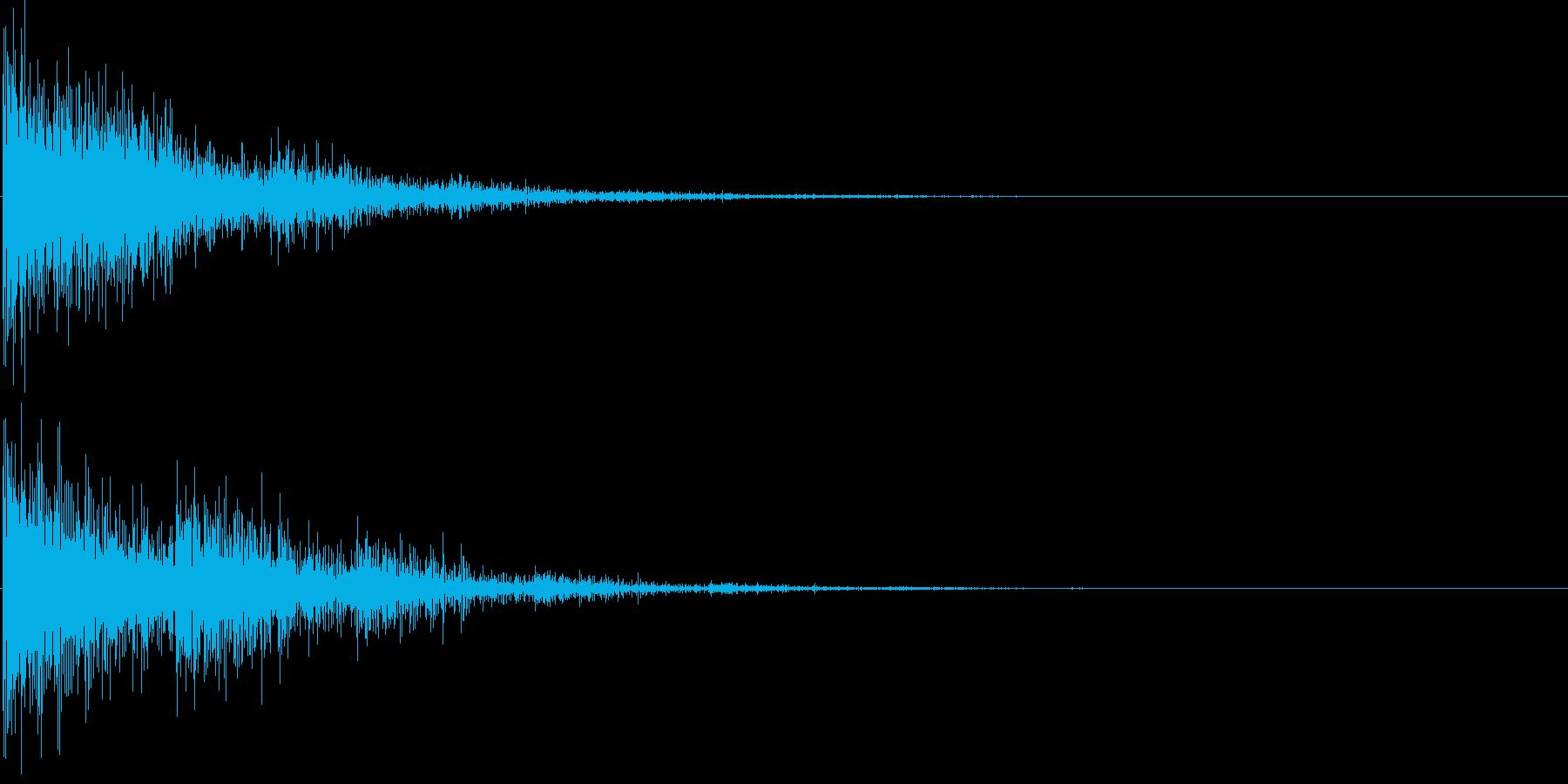 バン...。発砲音C1(低め・大げさ)の再生済みの波形