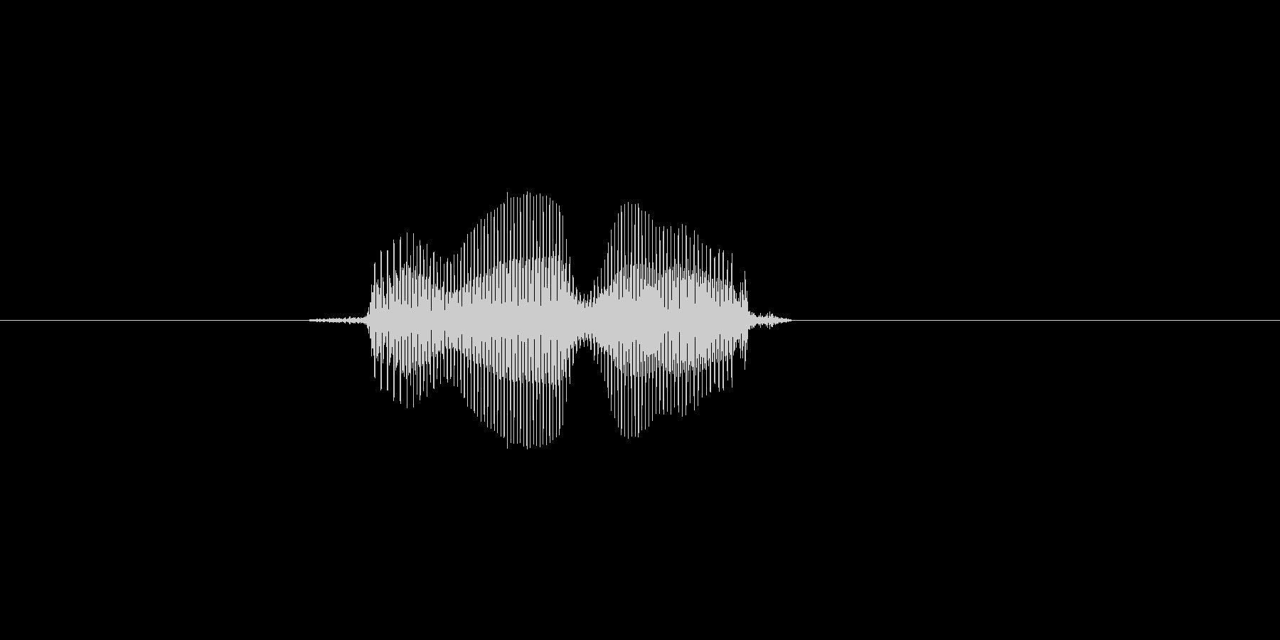 夜の未再生の波形