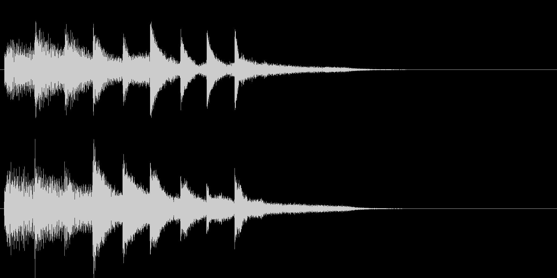 短いピアノ映像用ジングル3の未再生の波形