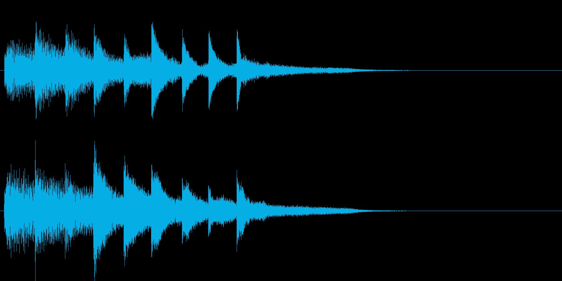 短いピアノ映像用ジングル3の再生済みの波形