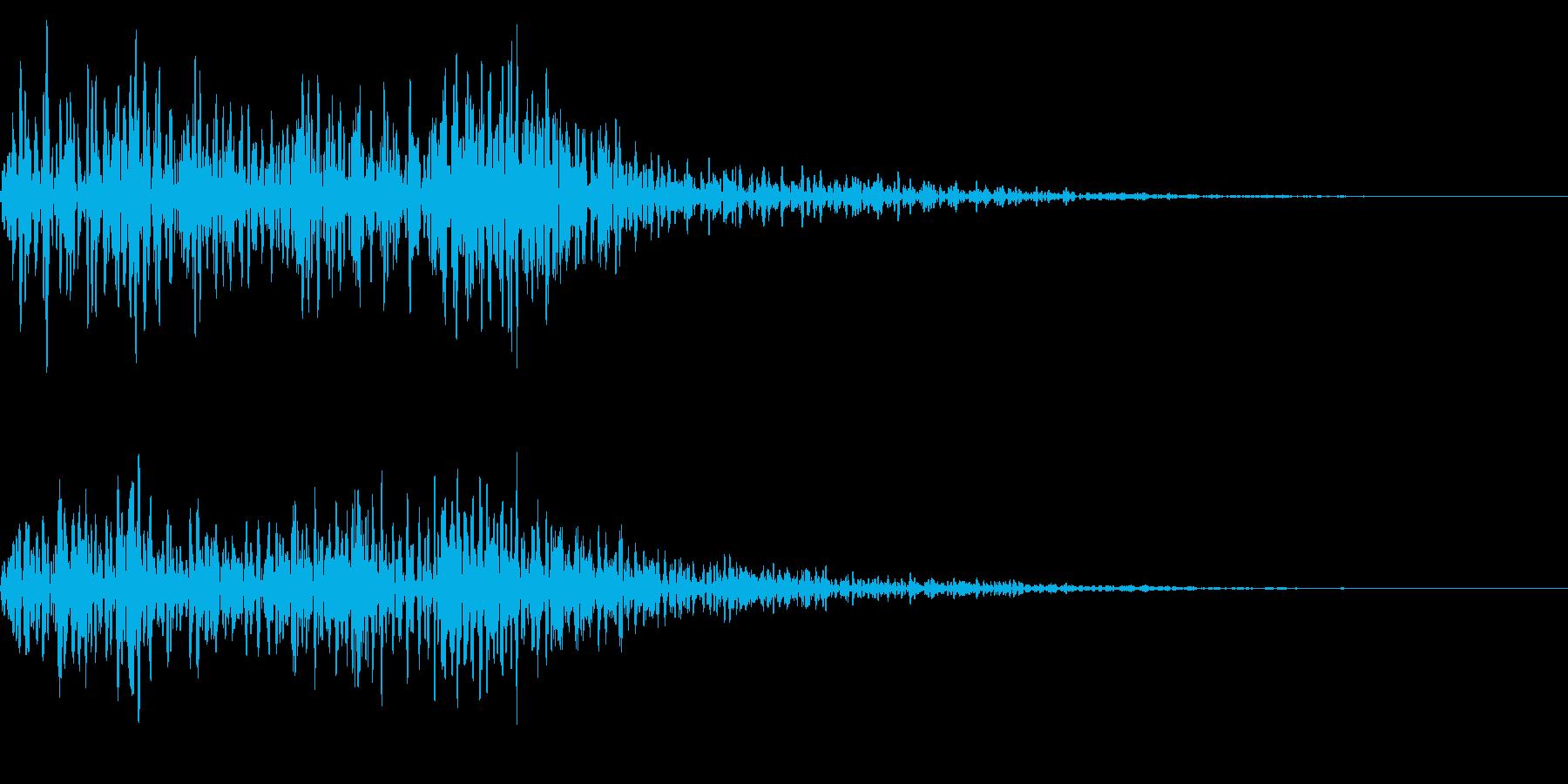 ホラー系アタック音5の再生済みの波形