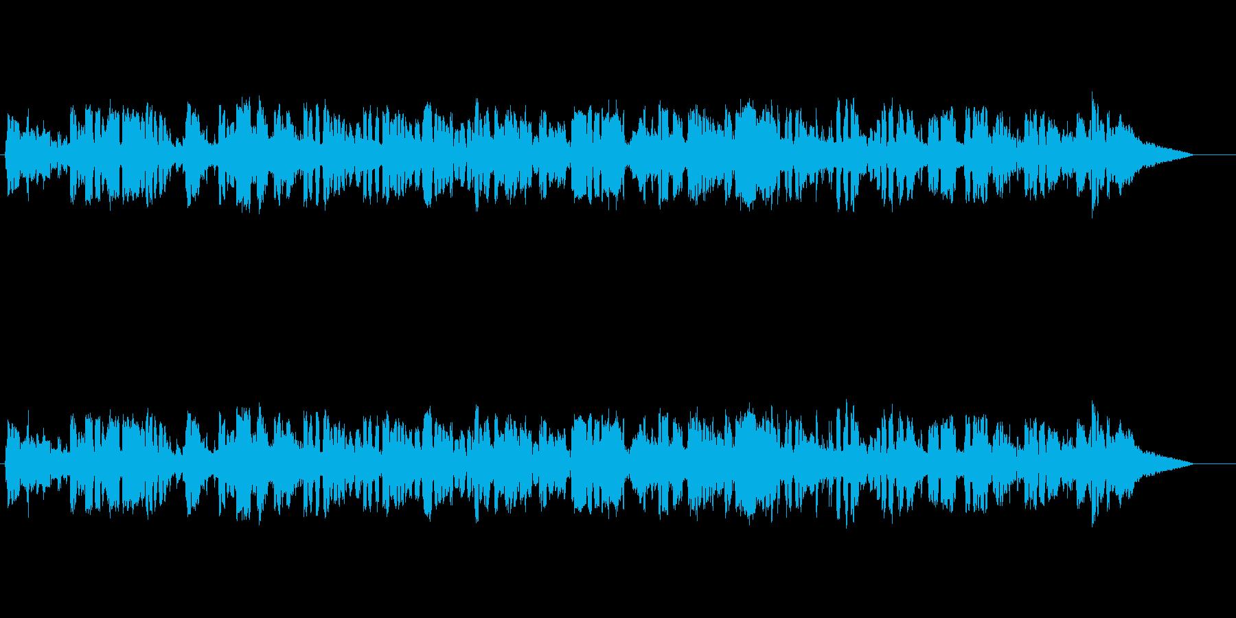 映像やオープニング 穏やかなジャズの再生済みの波形