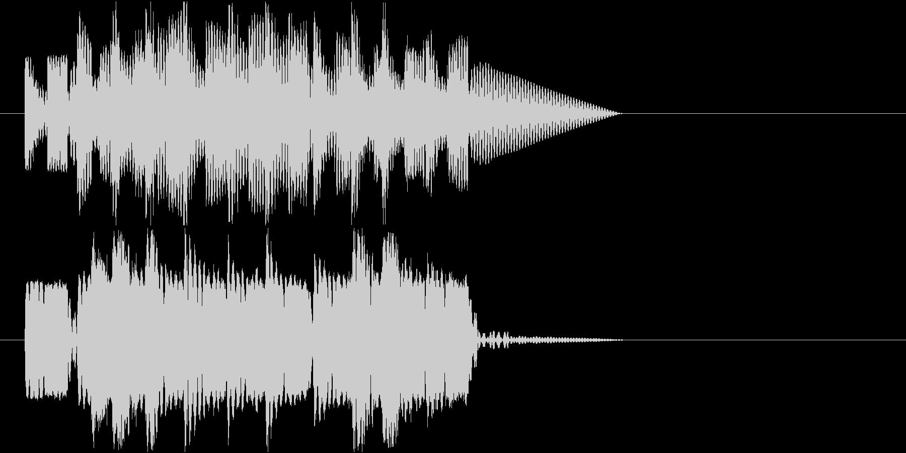 ロボットサウンド 機械音2の未再生の波形