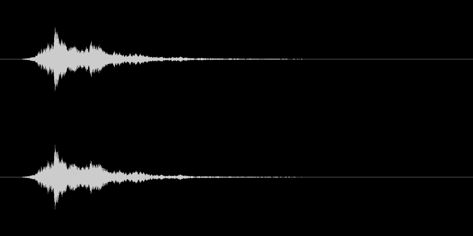 【アクセント12-2】の未再生の波形