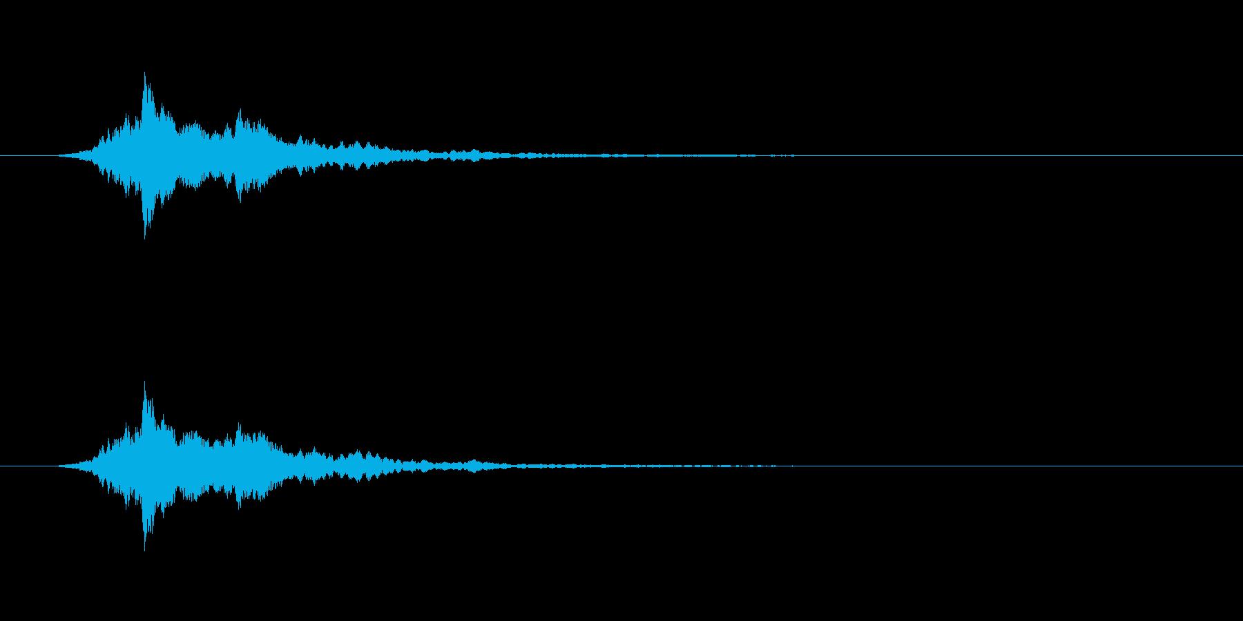 【アクセント12-2】の再生済みの波形