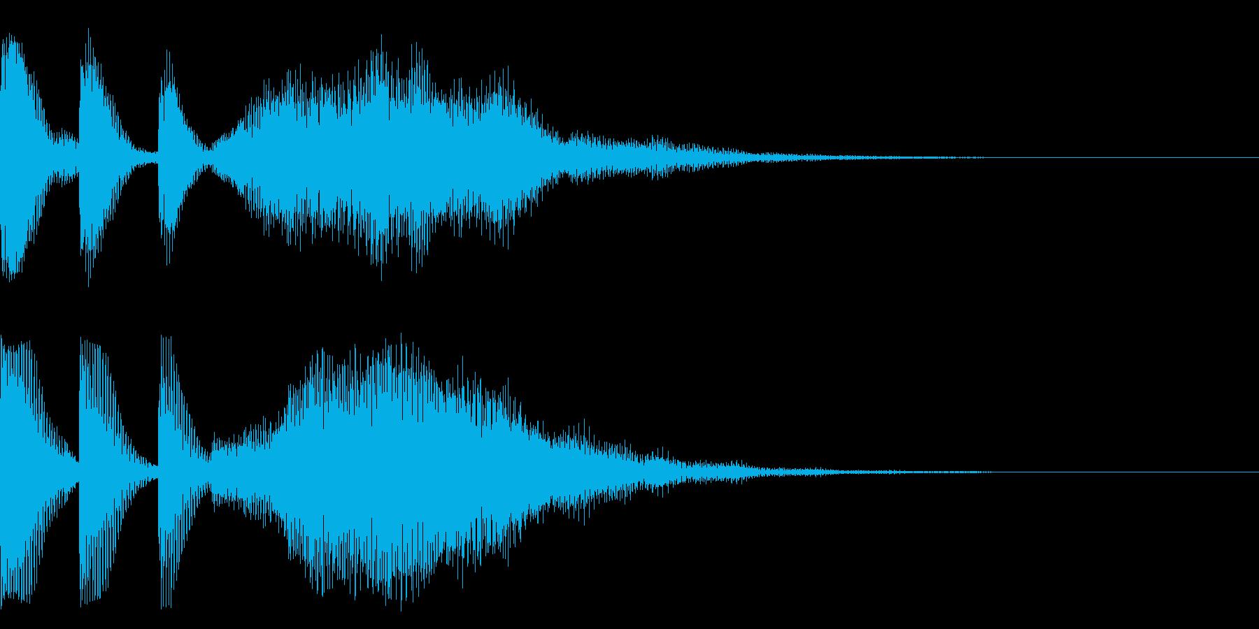 移動系のサウンドの再生済みの波形