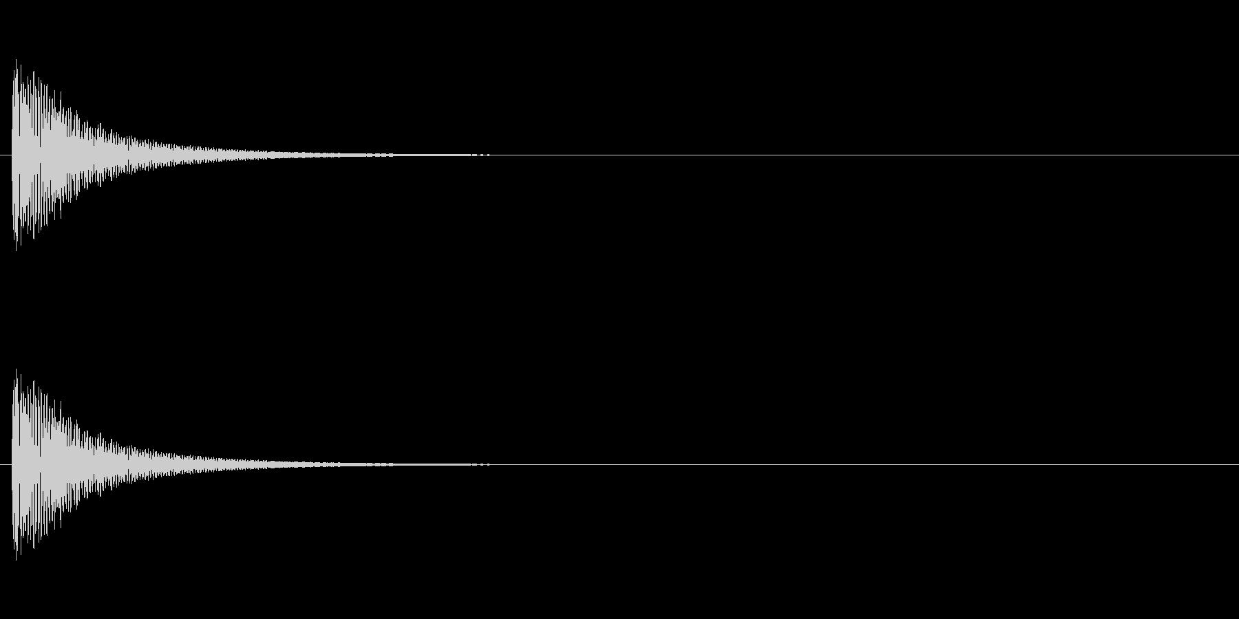 トンの未再生の波形