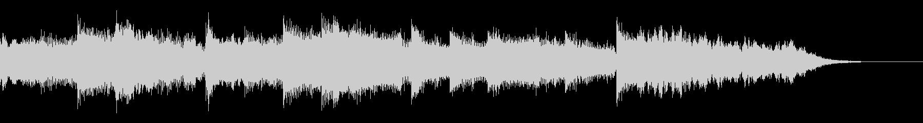 浮遊感のあるCM用BGMの未再生の波形