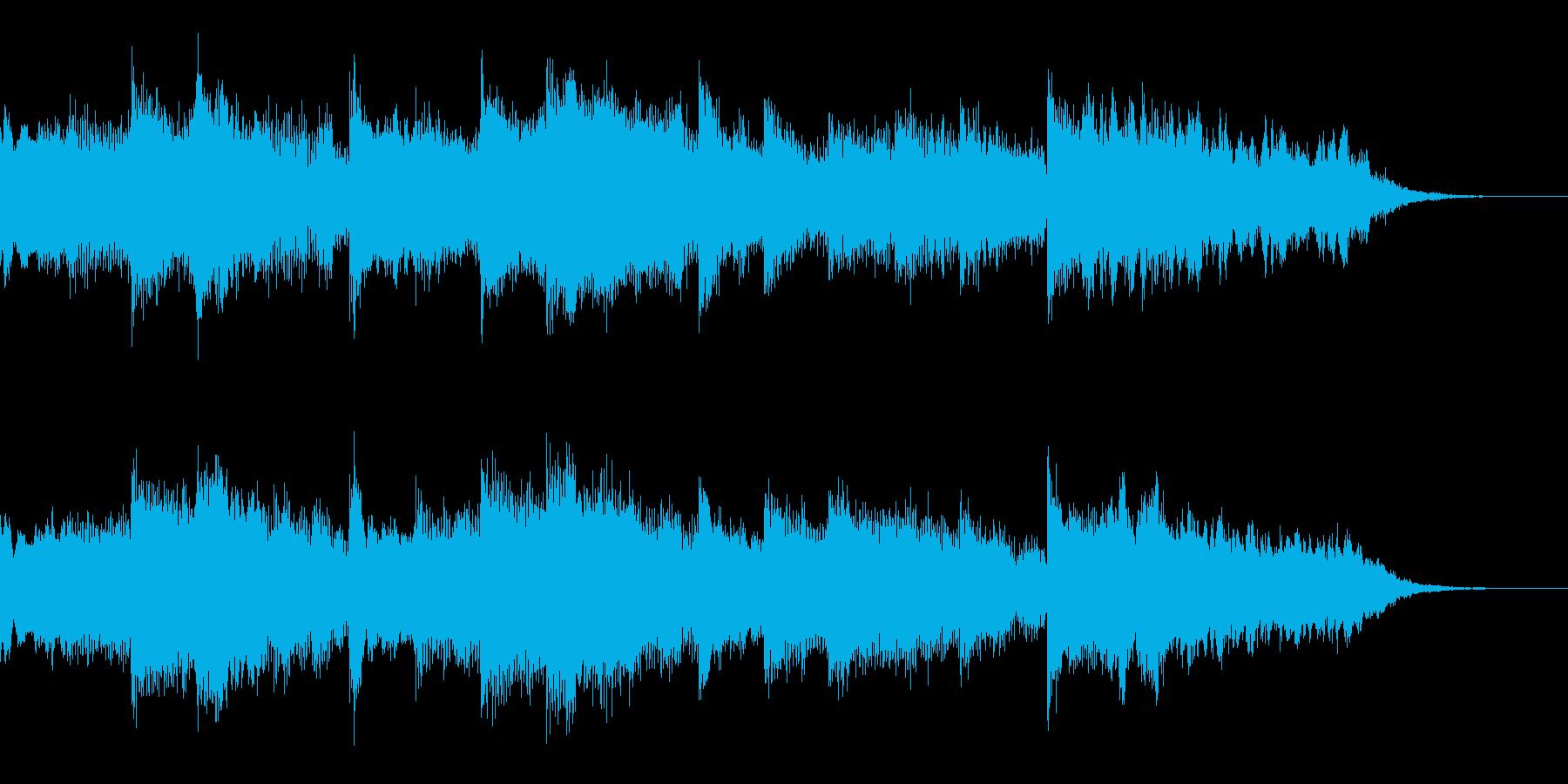 浮遊感のあるCM用BGMの再生済みの波形