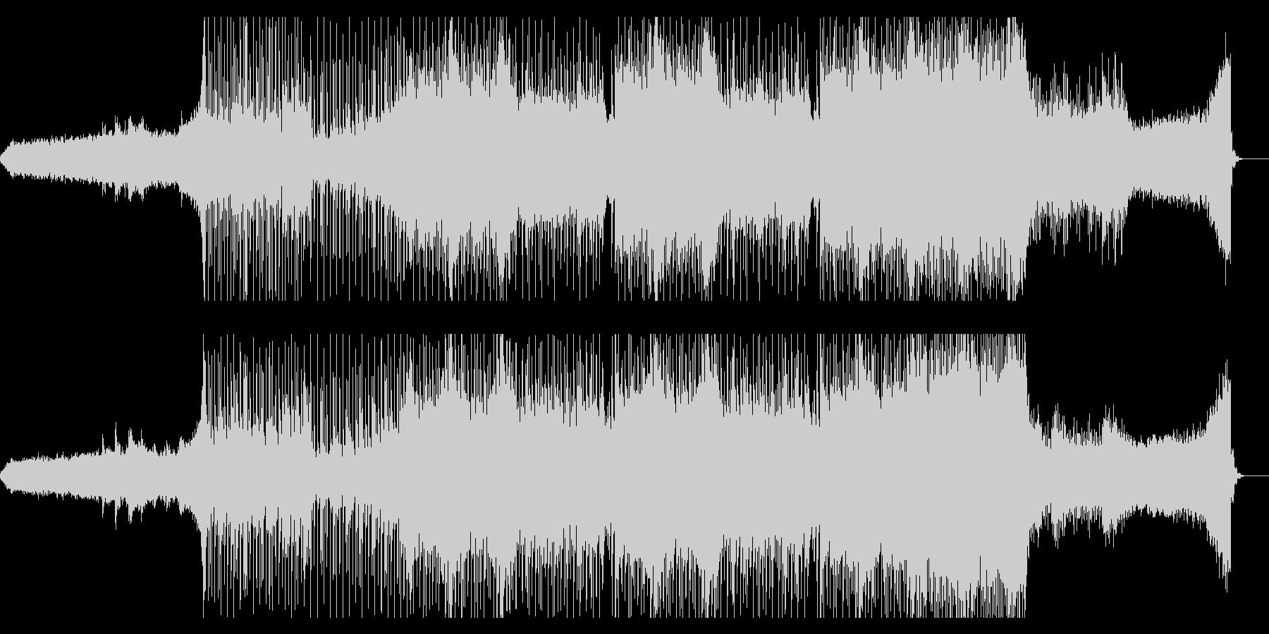 エンディング向けゆったりしたポストロックの未再生の波形