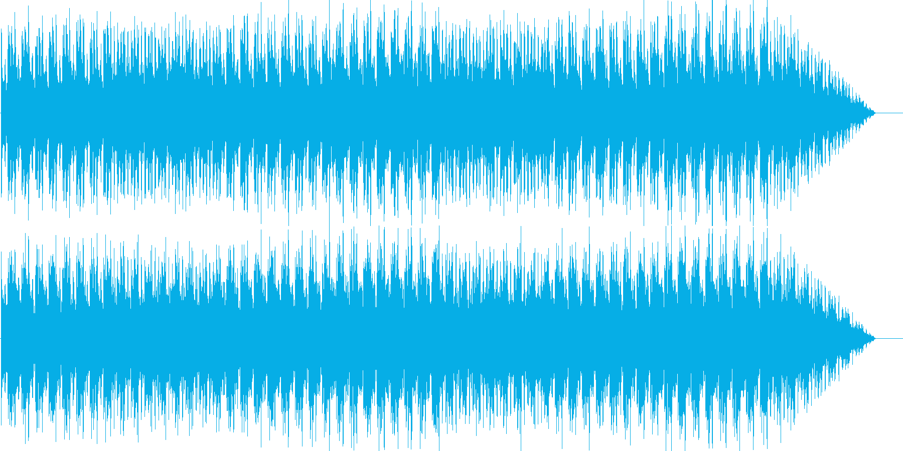 軽快なEDMの再生済みの波形