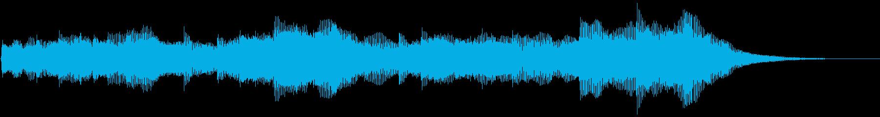 ダークなストリングス ホラー バスドラ抜の再生済みの波形