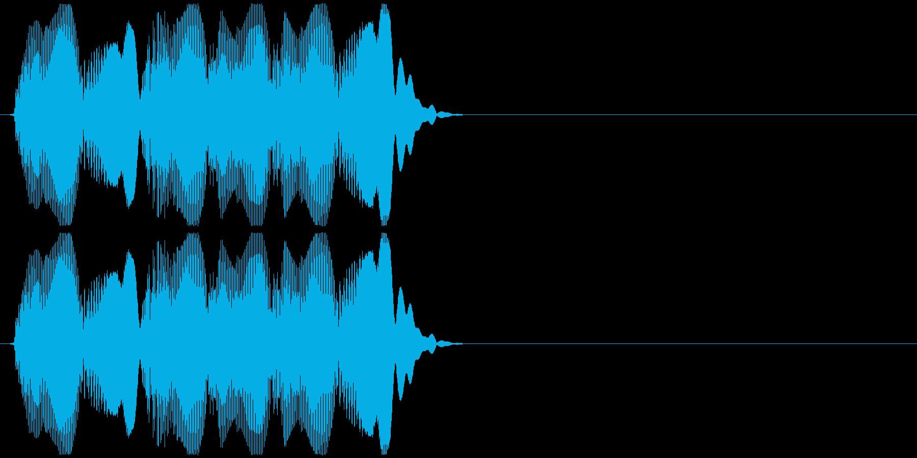もふっもふっの再生済みの波形