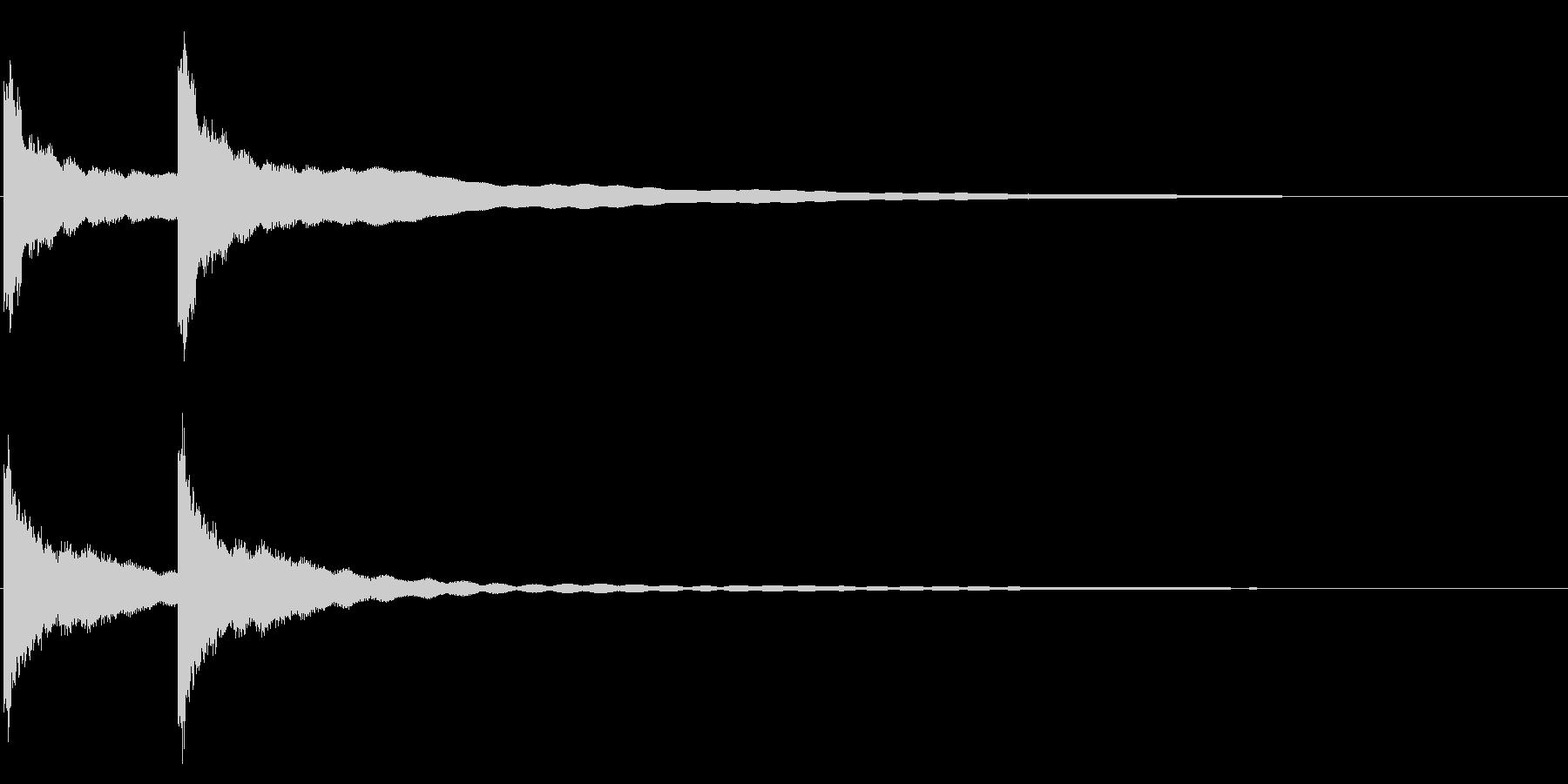 カーンカーン 西洋の鐘の音1 リバーブ付の未再生の波形