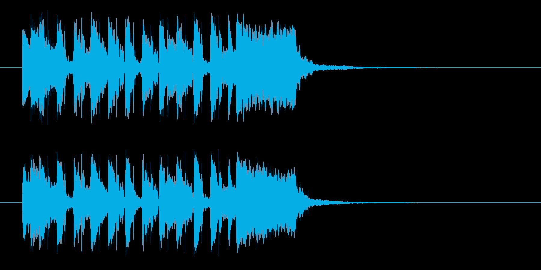 明るく楽しげな管楽器シンセサウンド短めの再生済みの波形