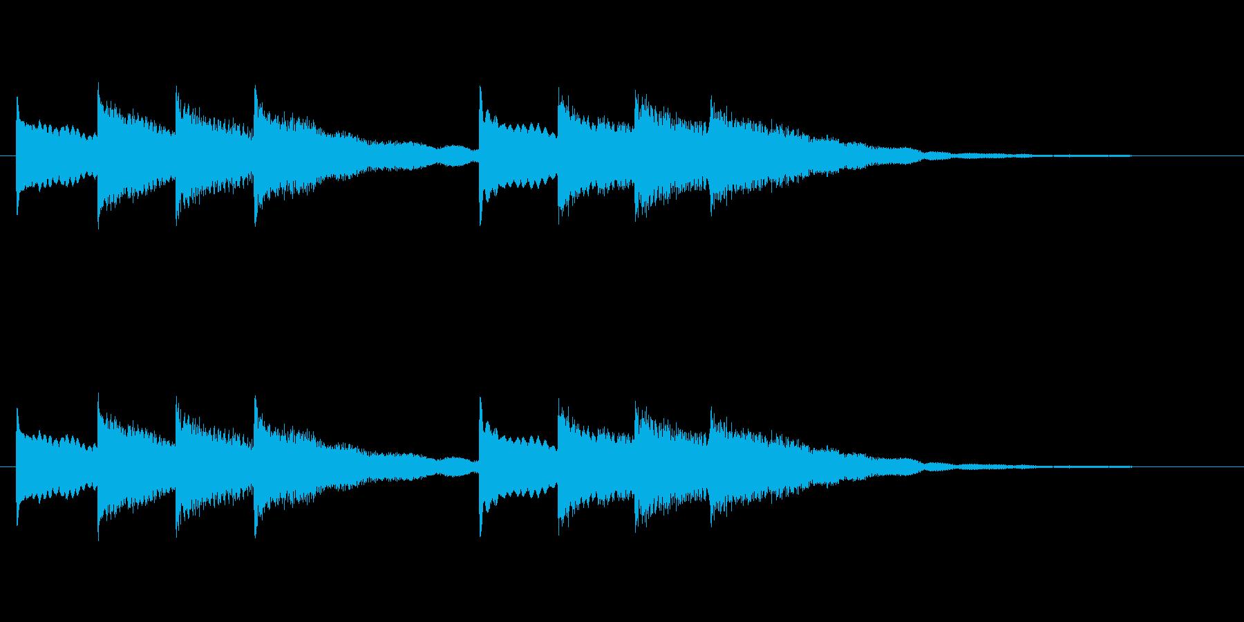 【チャイム 学校03-02】の再生済みの波形