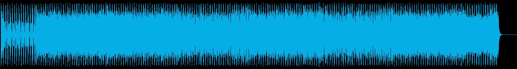 スピード感がある激しいテクノポップの再生済みの波形